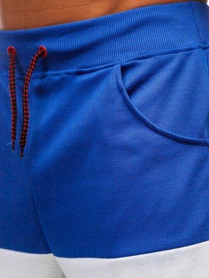 Modré pánske teplákové kraťasy BOLF 81017
