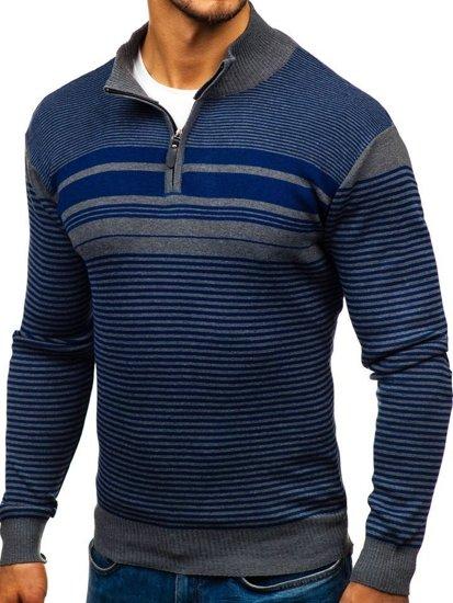 Modrý pánsky sveter BOLF BM6131