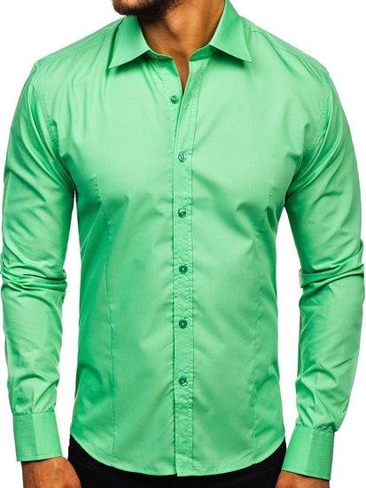 Pánska košeľa BOLF 1703 mätová