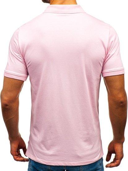 Ružová pánska polokošeľa BOLF 9025