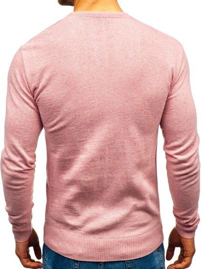 Ružový pánsky sveter BOLF 6001
