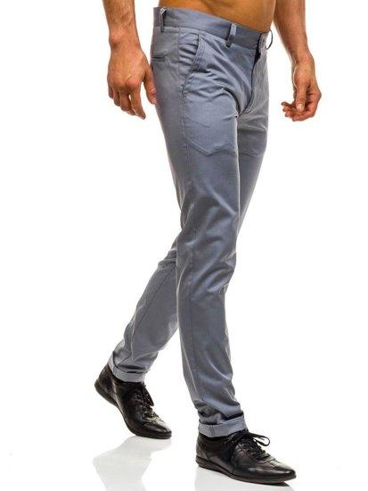 Šedé pánske spoločenské nohavice BOLF 0204