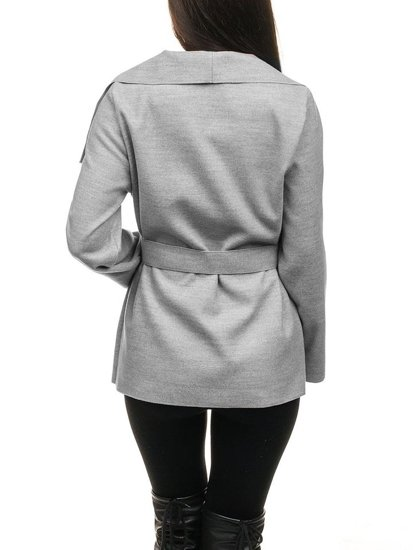 Šedý dámsky kabát BOLF 1726