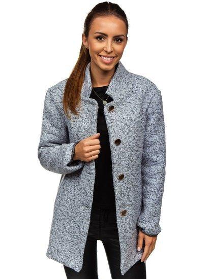Šedý dámsky kabát BOLF 6011-1
