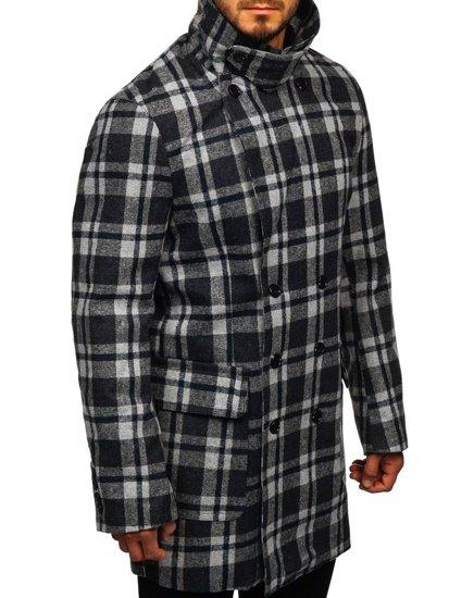 Šedý pánsky zimný kabát Bolf 1115