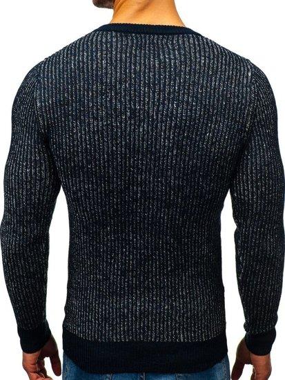 Tmavmodrý pánsky sveter BOLF H1818