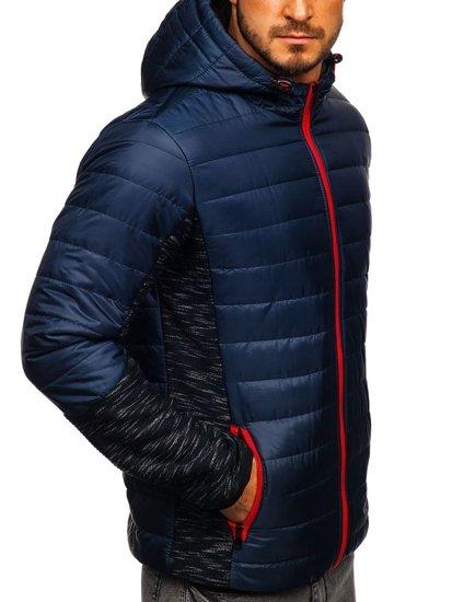 Tmavomodrá pánska prechodná bunda Bolf TY27