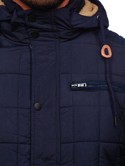 Tmavomodrá pánska zimná bunda BOLF 1672