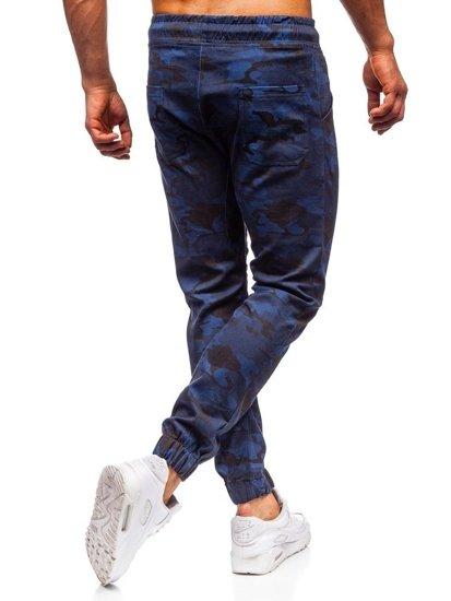 Tmavomodré maskáčové pánske joggery Bolf 0367