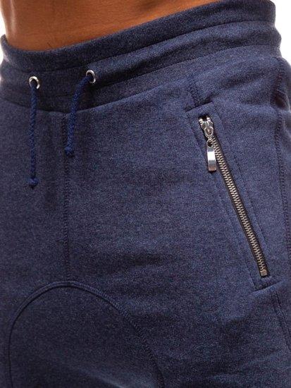 Tmavomodré pánske baggy tepláky BOLF 43S-S