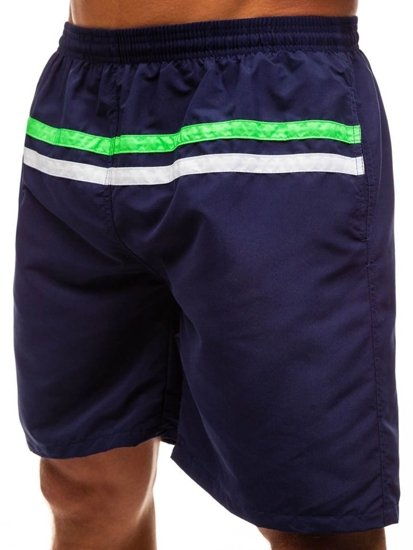 Tmavomodré pánske kúpacie šortky BOLF Y765