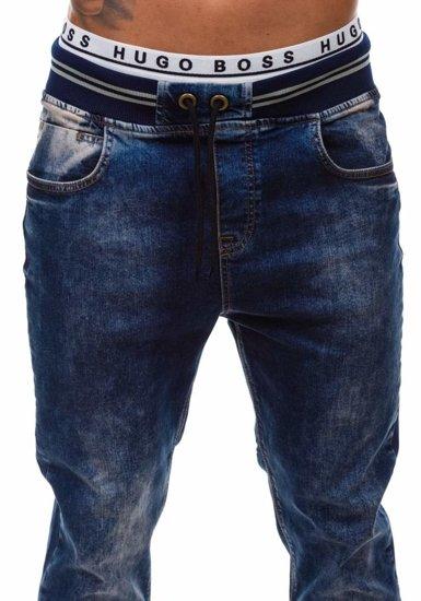 Tmavomodré pánske riflové baggy nohavice BOLF 810-2