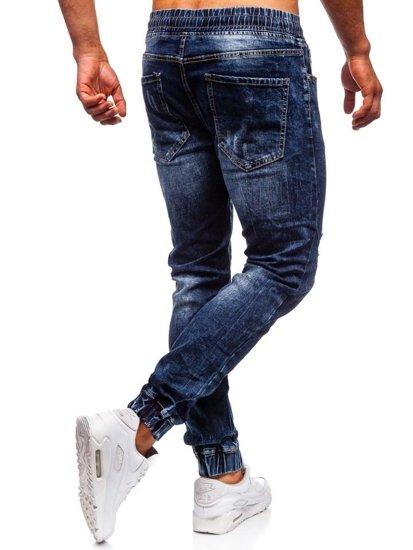 Tmavomodré pánske rifľové joggery Bolf KA606