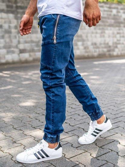 Tmavomodré pánske rifľové joggery Bolf KA755