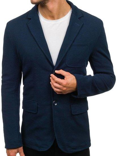 Tmavomodré pánske sako s kapucňou BOLF 2920