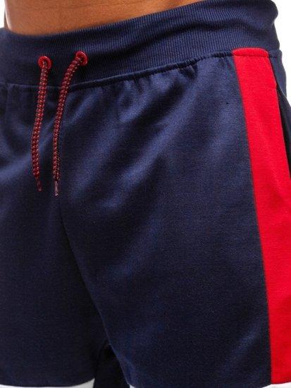 Tmavomodré pánske teplákové kraťasy BOLF 81012