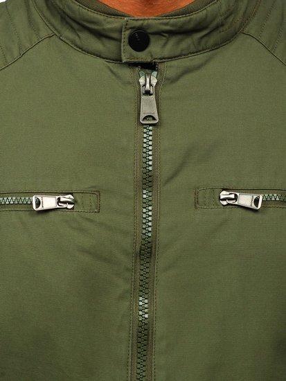 Zelená pánska elegantná pechodná bunda BOLF 1816