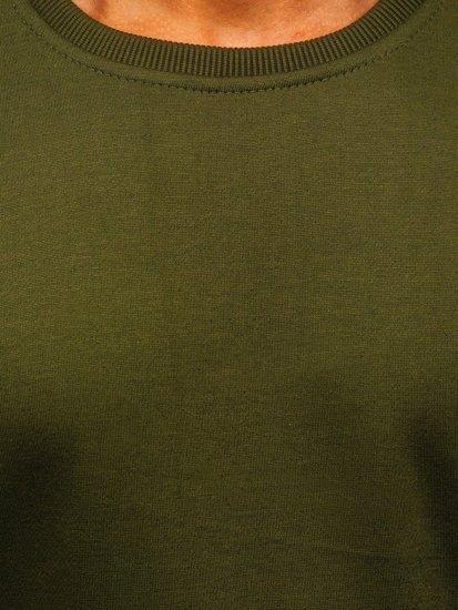 Zelená pánska mikina bez kapucne Bolf 2001