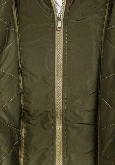 Zelená pánska zimná bunda parka Bolf 1045C