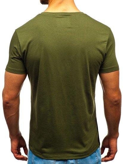 Zelené pánske tričko s potlačou BOLF 10823