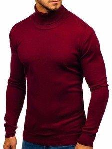 Bordový pánsky sveter / rolák BOLF 2400