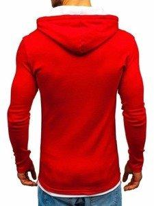 Červená pánska mikina s kapucňou BOLF 03-2