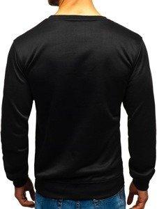 Čierna pánska mikina bez kapucne BOLF 22003