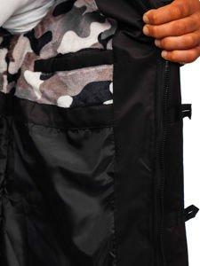 Čierna pánska zimná bunda Bolf 99116