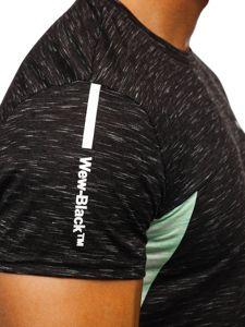 Čierne pánske tričko s potlačou Bolf SS11126