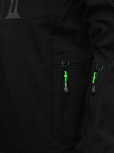 Čierno-zelená pánska softshellová bunda Bolf 12262