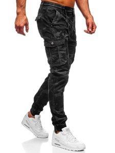 Grafitové pánske kapsáčové joggery Bolf CT6019