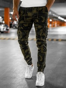 Khaki pánske kapsáčové joggery Bolf CT6017