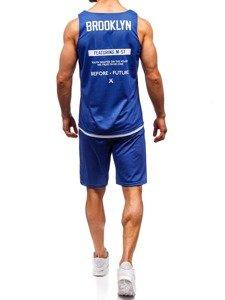 Modrý pánsky komplet: tričko + kraťasy  BOLF 100778