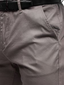 Šedé pánske chinos nohavice Bolf KA968