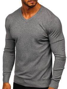 Šedý pánsky sveter s Včkom Bolf YY03