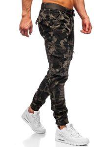 Zelené pánske kapsáčové joggery s opaskom Bolf CT6015